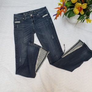 Grace 27 Distressed bootcut jeans